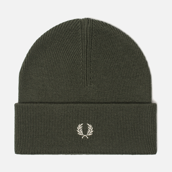 Шапка Fred Perry Merino Wool Beanie Olive