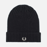 Шапка Fred Perry Ribbed Beanie Black фото- 0