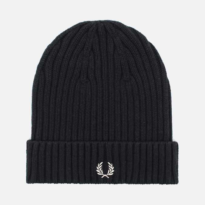 Шапка Fred Perry Ribbed Beanie Black