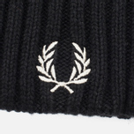 Шапка Fred Perry Ribbed Beanie Black фото- 1