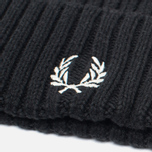 Шапка Fred Perry Ribbed Beanie Black фото- 2