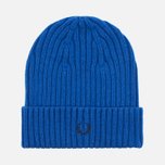 Шапка Fred Perry Ribbed Beanie Blue фото- 0