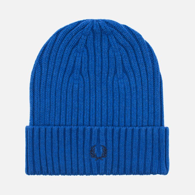 Шапка Fred Perry Ribbed Beanie Blue