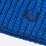 Шапка Fred Perry Ribbed Beanie Blue фото- 2