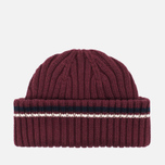 Fred Perry Ribbed Beanie Hat Maroon photo- 3