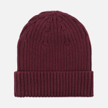 Fred Perry Ribbed Beanie Hat Maroon photo- 4