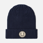 Шапка Fred Perry Ribbed Cotton Carbon Blue фото- 0