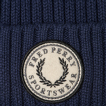 Шапка Fred Perry Ribbed Cotton Carbon Blue фото- 1