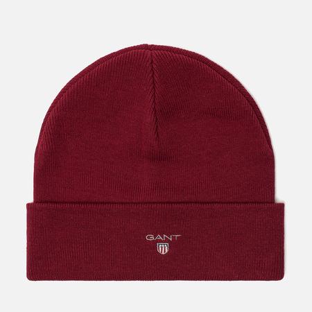 Мужская шапка Gant Logo Winter Wine