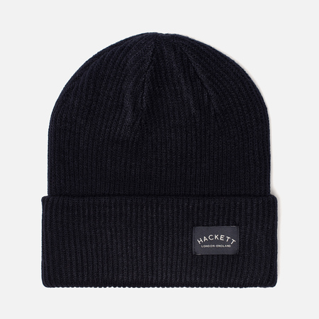 Шапка Hackett Mr. Classic Knit Beanie Bright Navy