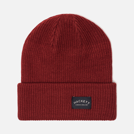 Шапка Hackett Mr. Classic Knit Beanie Crimson