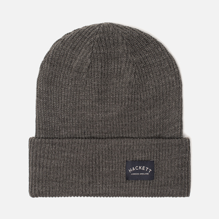 Шапка Hackett Mr. Classic Knit Beanie Grey