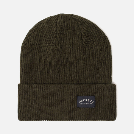 Шапка Hackett Mr. Classic Knit Beanie Military Olive