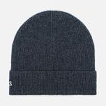 Мужская шапка Lacoste Ribbed Wool Beanie Antracite Melange фото- 0