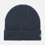 Мужская шапка Lacoste Ribbed Wool Beanie Antracite Melange фото- 1