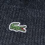 Мужская шапка Lacoste Ribbed Wool Beanie Antracite Melange фото- 2