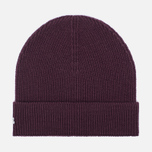 Мужская шапка Lacoste Ribbed Wool Beanie Burgundy фото- 0