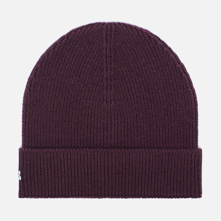Мужская шапка Lacoste Ribbed Wool Beanie Burgundy