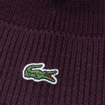 Мужская шапка Lacoste Ribbed Wool Beanie Burgundy фото- 2