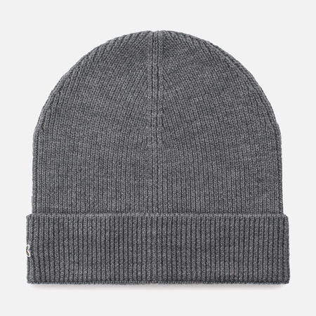 Мужская шапка Lacoste Ribbed Wool Beanie Galaxite Chine