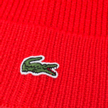 Мужская шапка Lacoste Beanie Red фото- 2