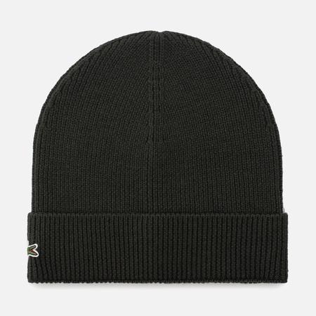 Мужская шапка Lacoste Ribbed Wool Beanie Sherwood