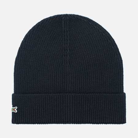 Мужская шапка Lacoste Ribbed Wool Beanie Black