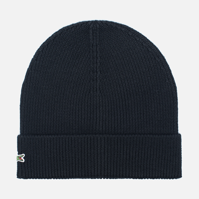 Мужская шапка Lacoste Ribbed Wool Beanie Black