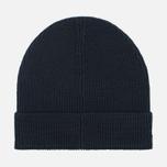 Мужская шапка Lacoste Ribbed Wool Beanie Black фото- 1