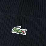Мужская шапка Lacoste Ribbed Wool Beanie Black фото- 2