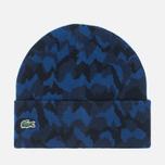 Мужская шапка Lacoste Live Print Jacquard Beanie Navy/Black фото- 0