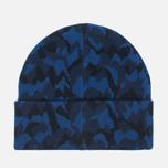 Мужская шапка Lacoste Live Print Jacquard Beanie Navy/Black фото- 3