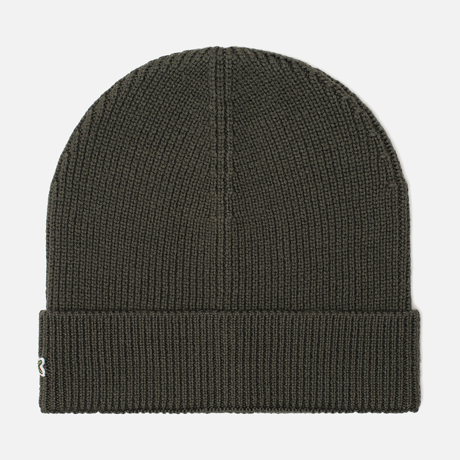 Шапка Lacoste Ribbed Wool Beanie Baobab