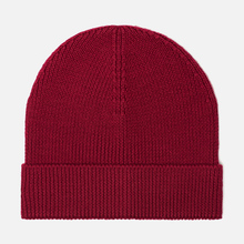 Шапка Lacoste Ribbed Wool Beanie Bordeaux Red фото- 0