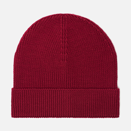 Мужская шапка Lacoste Ribbed Wool Beanie Bordeaux Red