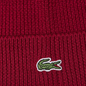 Шапка Lacoste Ribbed Wool Beanie Bordeaux Red фото - 2