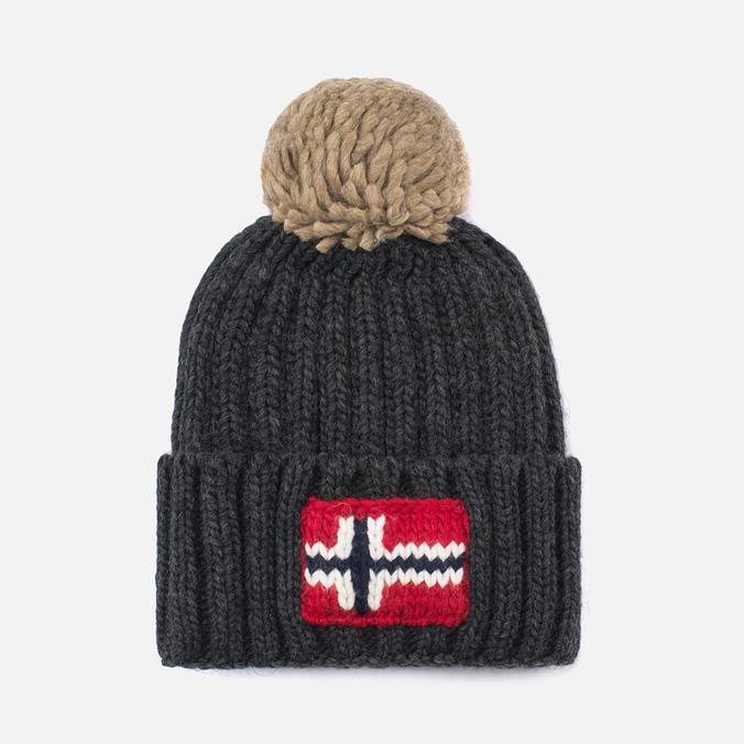 Мужская шапка Napapijri Semiury Dark Grey Melange