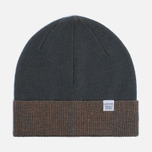 Мужская шапка Norse Projects Double Faced Beanie Capital Green фото- 0