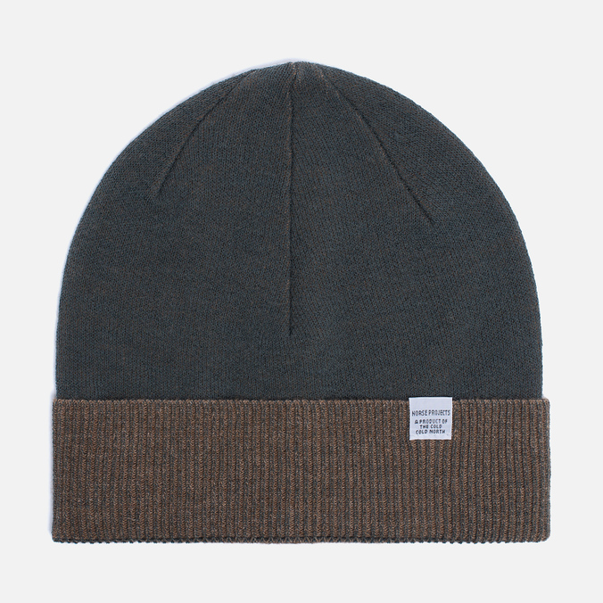 Мужская шапка Norse Projects Double Faced Beanie Capital Green