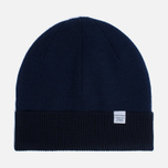 Мужская шапка Norse Projects Double Faced Beanie Principle Blue фото- 0