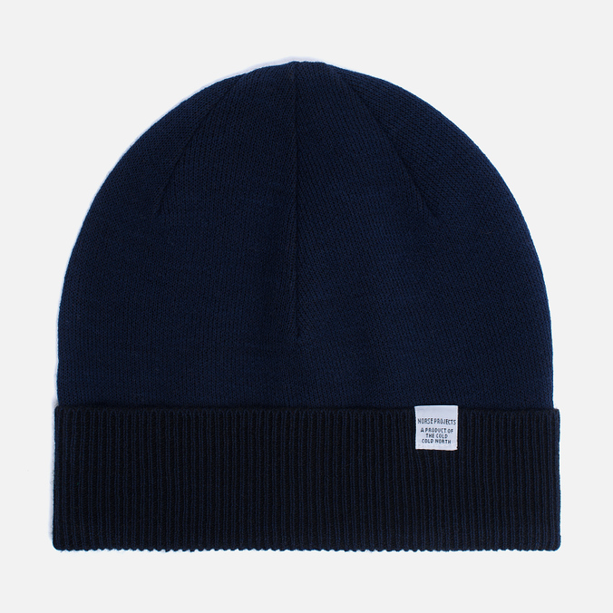 Мужская шапка Norse Projects Double Faced Beanie Principle Blue