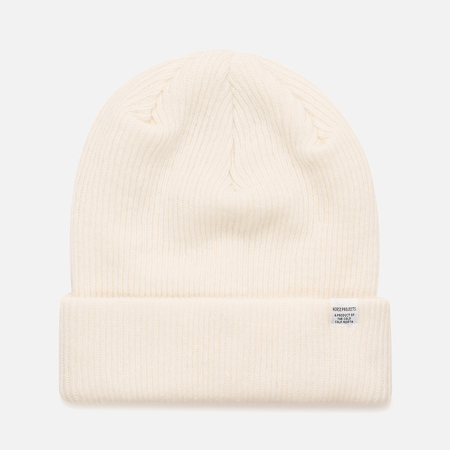 Мужская шапка Norse Projects Norse Beanie White