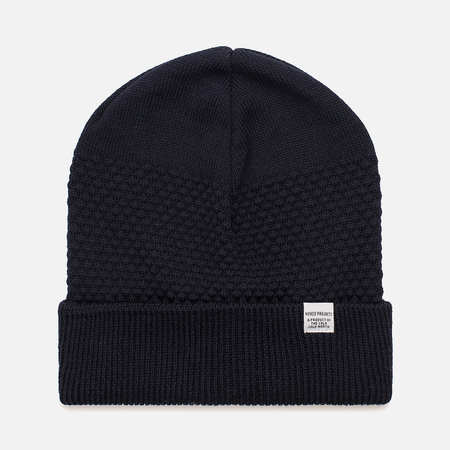 Мужская шапка Norse Projects Norse Bubble Beanie Navy