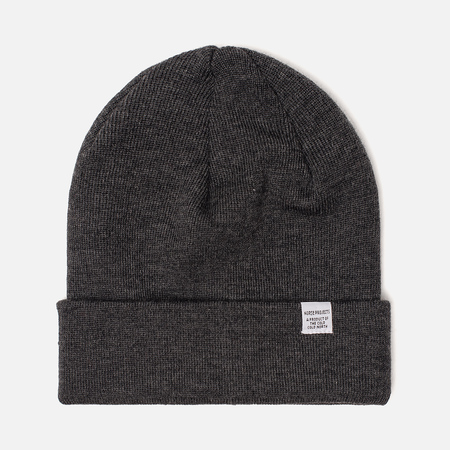 Шапка Norse Projects Norse Top Beanie Charcoal Melange