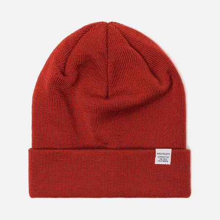 Мужская шапка Norse Projects Norse Top Beanie Oxide Orange