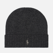 Шапка Polo Ralph Lauren Merino Wool Dark Charcoal Heather фото- 0