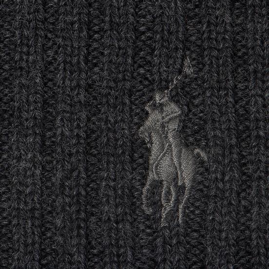 Шапка Polo Ralph Lauren Merino Wool Dark Charcoal Heather