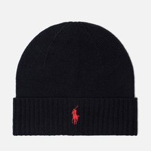 Шапка Polo Ralph Lauren Merino Wool Hunter Navy фото- 0