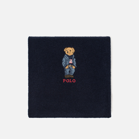Мужской шарф Polo Ralph Lauren SW Bear Acrylic Blend Hunter Navy