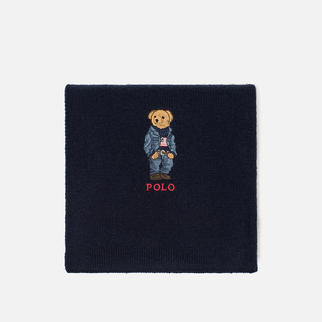Шарф Polo Ralph Lauren SW Bear Acrylic Blend Hunter Navy